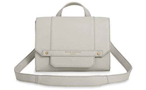 Katie Loxton Mila Multiway Womens Vegan Leather Convertible Strap Messenger Bag Backpack Grey Size: 7 x 9.75 x 3.5