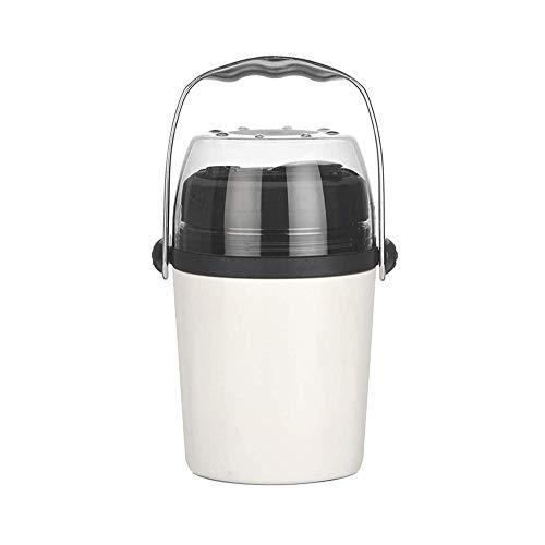 LBSX Elektro-Lunch Box 3 in 1 Klein und Leakproof for PKW/LKW Büroangestellter, Studenten, usw. und Arbeit - Edelstahl Tragbare Kostwärmer Heizung 1.6L (Color : White)