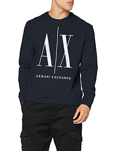 Armani Exchange Herren Icon Sweat Sweatshirt, Blau (Navy 1510), X-Small (Herstellergröße:XS)