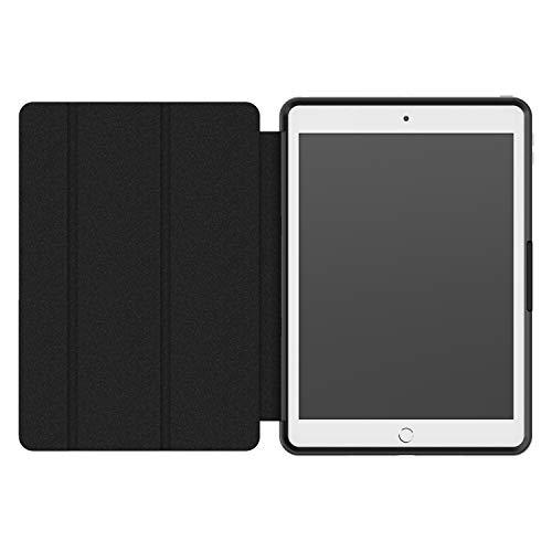 OtterBox Symmetry Folio, Sturzsichere Folio Schutzhülle mit integriertem Stifthalter für Apple iPad 10.2 Zoll (7th Gen 2019 / 8th Gen 2020) - schwarz (ohne Einzelhandelsverpackung)