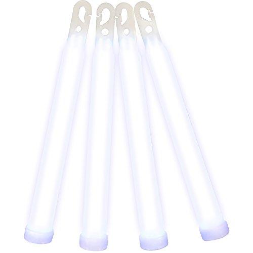 """Northern Lights 6"""" Premium Glowstick White (100 Pieces)"""