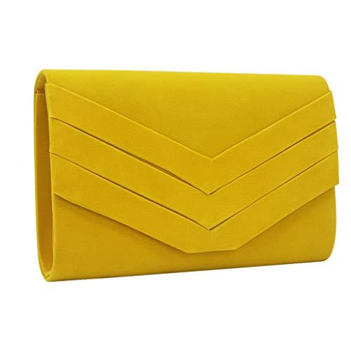 Bolso sobre amarillo de fiesta para mujer