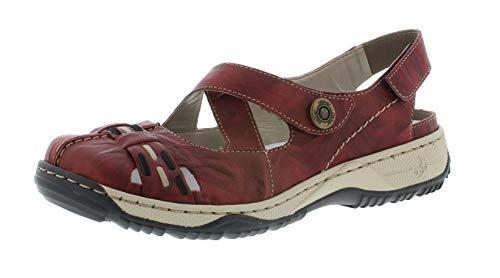 Rieker 47478 Damen Trekking Sandalen,Outdoor-Sandale,Sport-Sandale,geschlossener Zehenbereich,wine/schwarz/35,38 EU / 5 UK