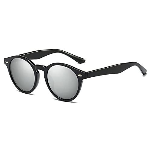 MOMAMOM Gafas De Sol Polarizadas Hombre Mujer Protección UV Antirreflejos Actividades Exteriores Retro CláSico Unisex Lentes Viaje Moda Vintage Conducción Senderismo Silver