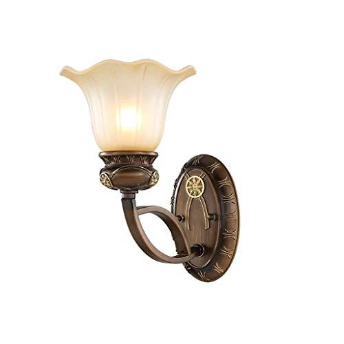 Aplique de Pared LED Adelaide Europea - la lámpara de cabecera cabecera del dormitorio de la lámpara lámpara de pared de la escalera pasillo resina de iluminación de estudio hierro de Arte pasillo