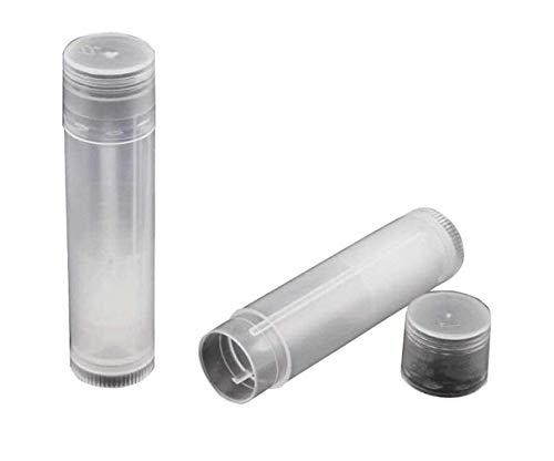 Elandy Lot de 10 Récipient ovale vide 5 ml/5g pour déodorant baume à lèvres tubes brillant à lèvres Boîte Support avec bouchons Transparent