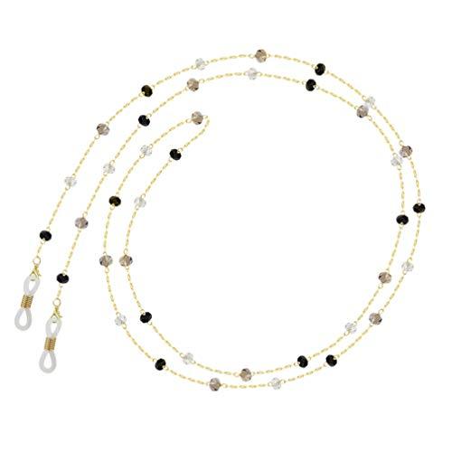 SOLUSTRE Cadenas para Gafas para Hombres/Mujeres Correas para La Cara Sujetador para Gafas Cadena Colgante Collar Cadenas para Gafas Conjunto Antipérdida Alrededor Del Cuello