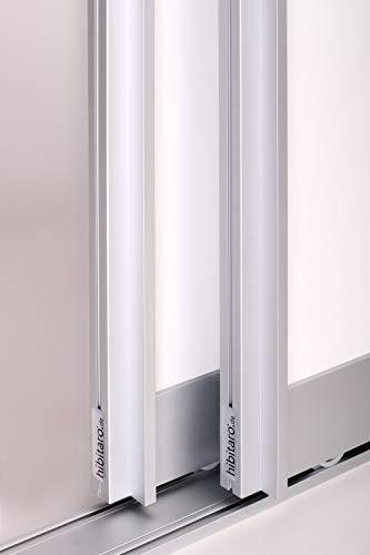 Schiebetürbausatz inkl. Aluminium Rahmentyp B   Inkl. Beschläge für 2 Türen, max. Flügelmaße: 1036 x 2700 mm   Füllung kommt von Ihnen   Boden- und Deckenschiene in 2000 mm