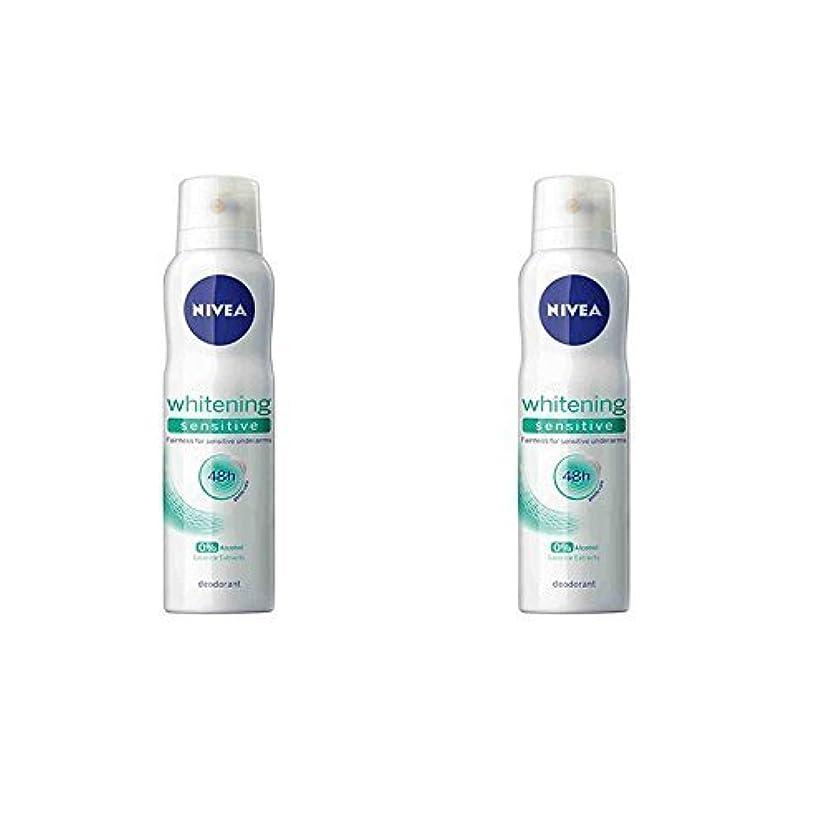 賛美歌太字ジョグNivea 2 Lots X Whitening Sensitive 48 Hours Gentle Care Deodorant - 150ml