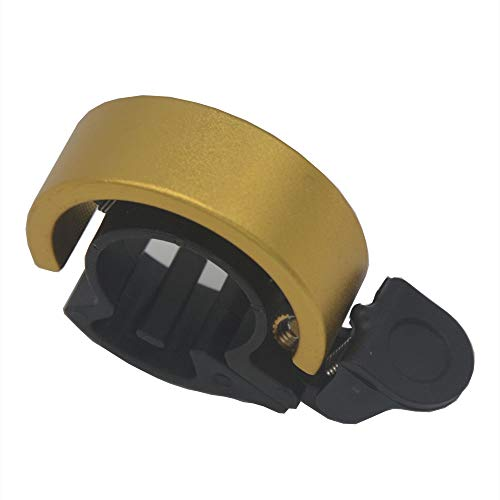 AZT Bicycle Q Bell Bike Horn Mountain Bike Bell Riding Accessories Stealth Bell (Gold)