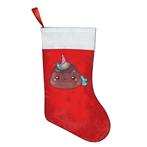Unicorn Poop Christmas Stockings Xmas Gift 16.5' Christmas Socks Santa Christmas Tree Hanging Ornament Fireplace Xmas Tree Holiday Party Decoration Gifts