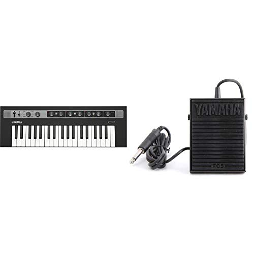 Yamaha REFACE CP Portable Electric Piano and Vintage Keyboard Sound Engine, Synthesizer & Yamaha FC5 Compact Sustain Pedal for Portable Keyboards, black