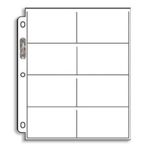 20(Zwanzig) Single Ultra Pro 8-pocket Seiten–Acht Taschen Seite (8Top Load/Horizontal Slots)
