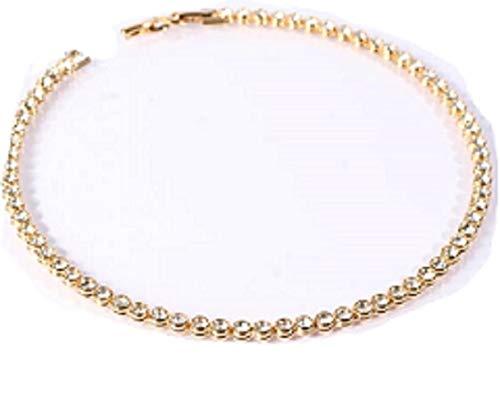 Le Bijou exkl. Tennis-Collier Swarovski-Kristalle gold 44/42 cm