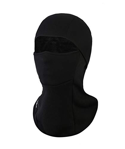 KSKG Winter Balaclava Windproof Fleece Thermal Full Face Neck Warmer Ski Mask Motorcycle Cycling for Men Women Black