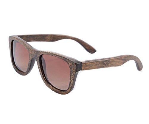 SHINU Piazza Occhiali da Sole Donna in Metallo Forma Leggera di Protezione UV400 Occhiali da Sole-Z6016(c1-bamboo brown, gradient brown)