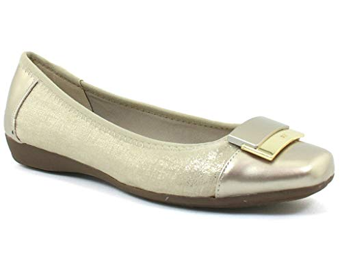Anne Klein Sport Women's UNA Light Taupe Syntheticflats-Shoes 10 B(M) US