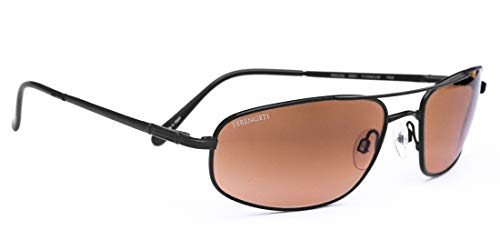 Serengeti Velocity Sunglasses (Titanium Aviator) -Matte Black