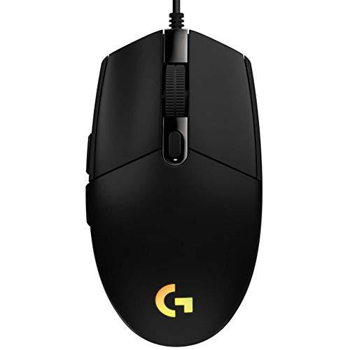 Logitech Gaming Mouse G102 LIGHTSYNC Maus für Rechtshänder, Optisch, 6 Tasten, kabelgebunden, USB, schwarz