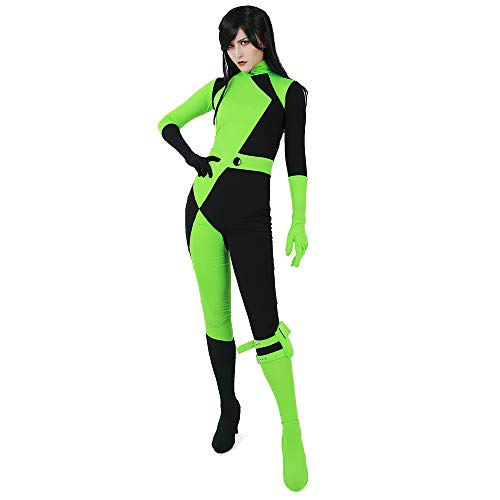 miccostumes Women's Shego Bodysuit Cosplay Costume (Women m) Green, Black