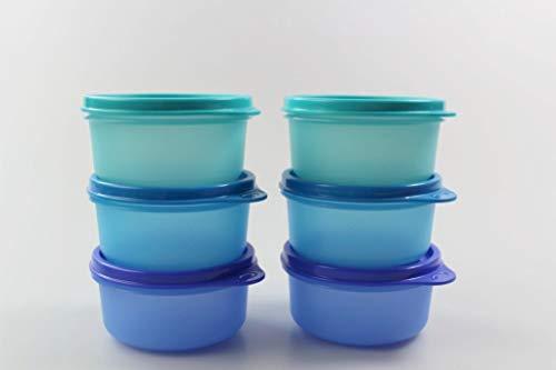Tupperware Kühlschrank 200 ml Julchen türkis+blau+dunkelblau Mini Panorama (2) 35167