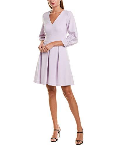 Eliza J Women's V-Neck A LINE Dress, Lavendar, 14