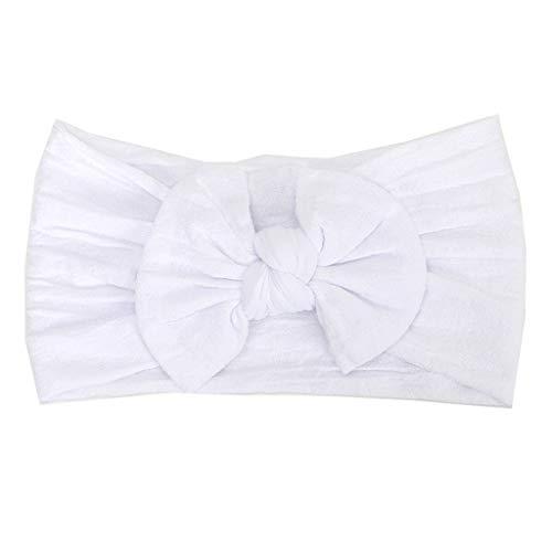 Huhu833 Baby Stirnbänder, Cute Baby Kleinkind Infant Circle Stirnband Stretch Haarband Headwear (Weiß)