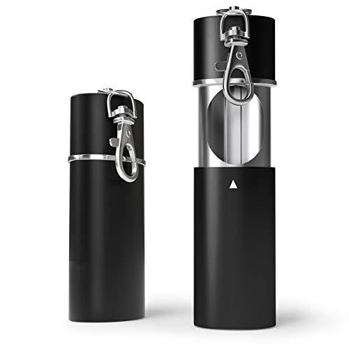 2 x Zigaretten Taschenascher Taschenaschenbecher geruchsdicht | Reise-Aschenbecher - Aschenbecher für unterwegs - Aschenbecher to go (Schwarz matt) (Schwarz matt)