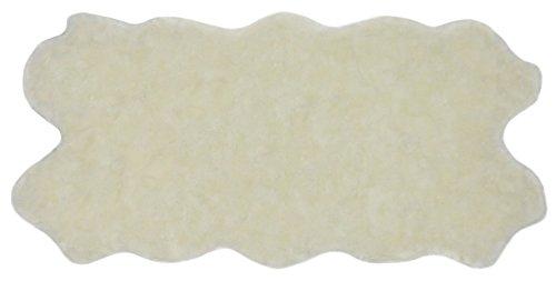 Nouvelle Legende Kunstfell Schaffell Teppich Quattro (34in. X 67in.)–Weiß