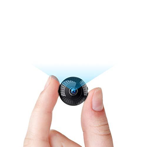 TDW - Mini cámara 1080P, inalámbrica, wifi, con micrófono de detección de micrófono, portátil, bolsillo IP para iPhone, Android, Smartphone, videocámara interior de exterior