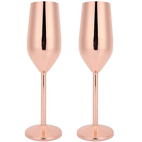 Gaetooely 2 Piezas Copa de Vino Copas de ChampáN 200 Ml Copas de ChampáN Tazas de Beber Inastillables para Banquete Fiesta Bar