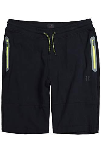 JP 1880 Homme Grandes tailles Pantalon bermuda en sweat, décontracté noir 4XL 711299 10-4XL