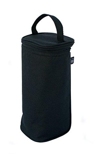 J.L. Childress Breastmilk Cooler & Baby Bottle Bag, Insulated & Leak Proof, Ice Pack Included, Single Bottle, Black
