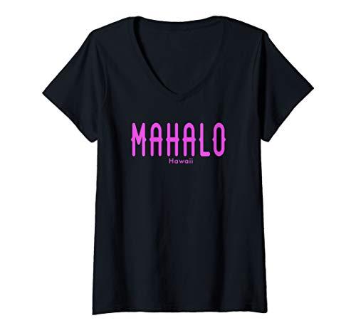 Womens Mahalo V-Neck T-Shirt
