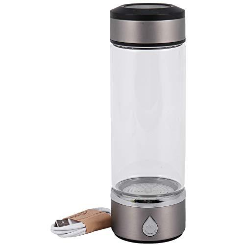 Sonline 600 ml de agua portátil, filtro de agua, ionizador puro H2 Pem de agua rica, botella alcalina, electrólisis para beber agua