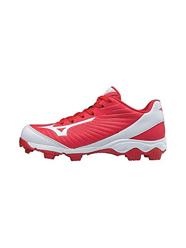 Mizuno (MIZD9 Baseball Cleat Shoe, Red/White, 1.5 Youth US Little Kid