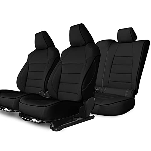 Easeadd Fundas De Asiento De Coche A Medida para Compatible con Toyota Corolla Berline/Touring Sports 2019-2021 Active,Design,Dynamic (Business)-Cuero(Negro)