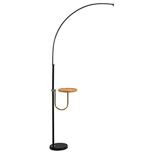 ZMLG Lámparas de Pie con Repisa, Lampara Vertical LED 21W, Diseño Nordica, Lámpara de Lectura Metal con Interruptor Botón, Altura de 150cm para Restaurante Oficina