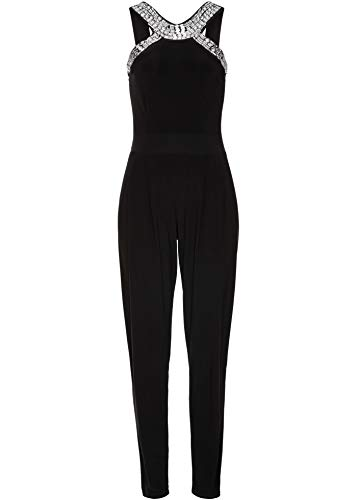 bonprix Attraktiver Jumpsuit mit funkelnden Dekosteinen schwarz 44/46 für Damen