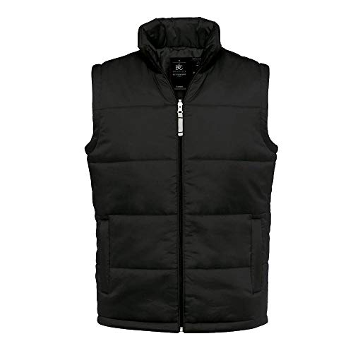 B&C - gefütterte Weste 'Bodywarmer Men' 3XL,Black