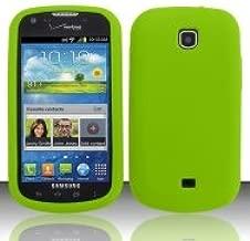 Bundle Accessory for Verizon Samsung Galaxy Stellar i200- green Silicon Skin Soft Case Proctor Cover + Lf Stylus Pen + Lf Screen Wiper