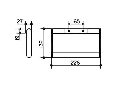Keuco 14921170000 Plan Handtuchring, aluminium silber-eloxiert / chrom