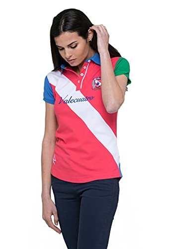 Valecuatro Polo para Mujer, Camiseta Polo Manga Corta