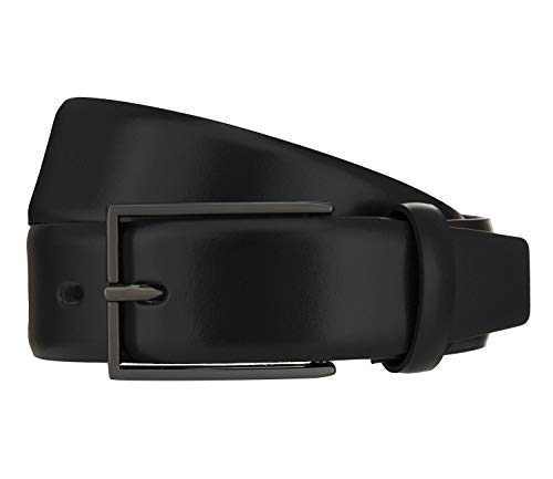 LLOYD Men's Belts Gürtel Herrengürtel Ledergürtel Schwarz 8378, Länge:110, Farbe:Schwarz