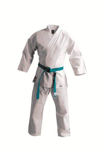 adidas K220 Karate - Uniforme de artes marciales, tamaño 0-130, color blanco