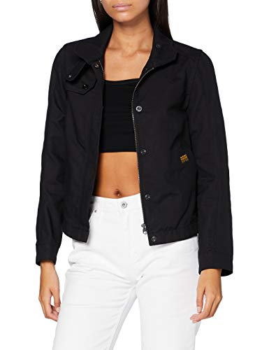 G-STAR RAW Womens Slim Overshirt JKT wmn Jacket, dk Black 5352-6484, Small
