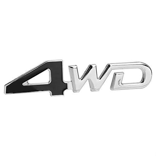 NOPNOG 3D Metal Car Sticker 4WD Type Emblem Badge for Car Decoration (Black)
