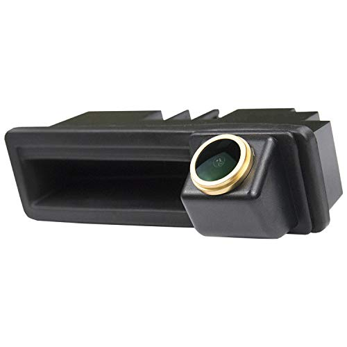 HD 1280x720p D'oro Telecamere posteriori Retrocamera Telecamera Retromarci Telecamera impermeabile Visone Notturna per Audi A4 B7 2003-2008 AUDI A3 2009-2015 A6 4F Q7 4L0