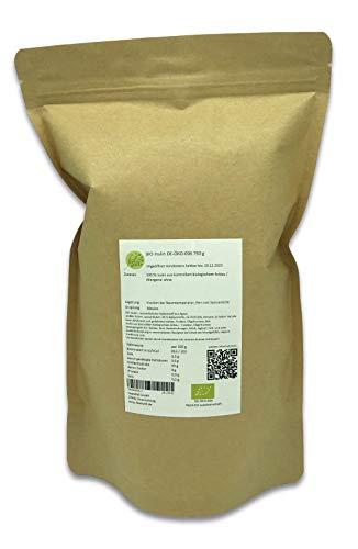 750 g Beutel BIO Inulin Ballaststoff, Oligofructose, vegan, organisch Agave, DE-ÖKO-006 biologisch, Fruktan, löslich