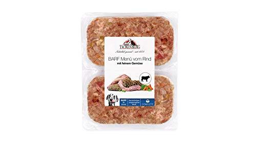 TACKENBERG Hundefutter (Rind + Gemüse), Barf Futter Hund, Barf Fleisch für Hunde, Frischfleisch